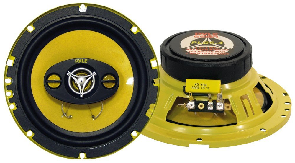 PYLE PLG6.4 6.5-Inch 300 Watt Four-Way Car Speakers