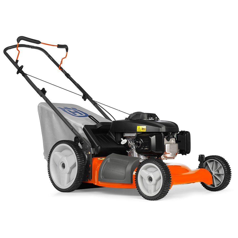 Husqvarna 7021P 21-Inch 160cc Honda GCV160 Gas Powered 3-N-1 Push Lawn Mower with High Rear Wheels
