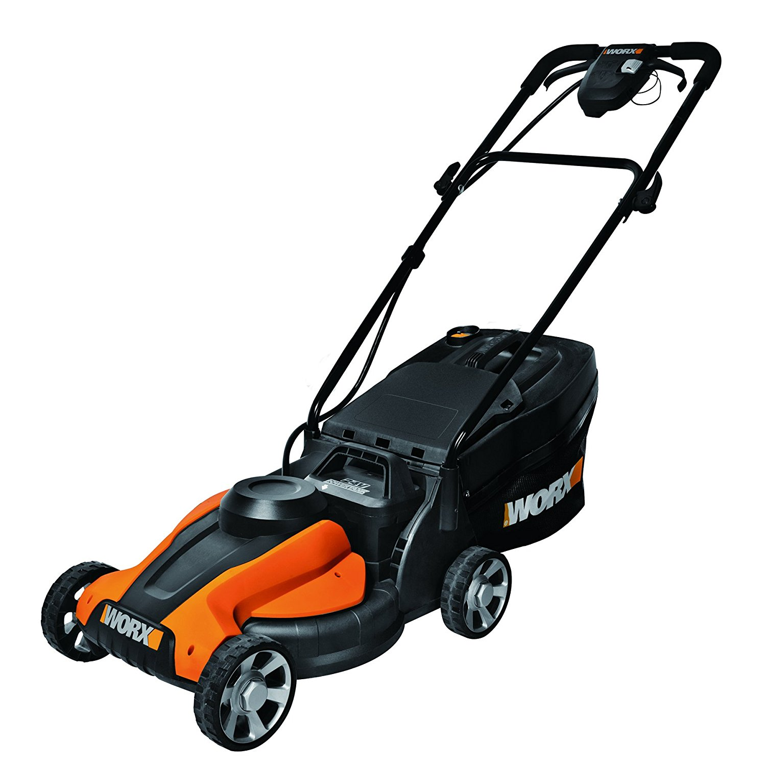 WORX Lil'Mo 14-Inch 24-Volt Cordless Lawn Mower with Easy-Start Feature